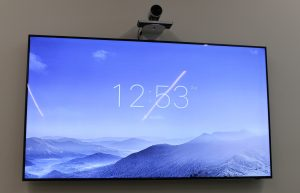 "Samsung 85"" TV Monitor for video conferencing with Cisco Precision 60 camera"